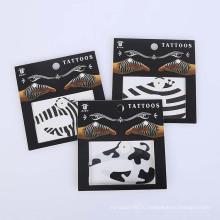 Кожа Безопасная Временная Наклейка Дизайн Нетоксичные Моды Промо Партии Рука Черный Татуировки