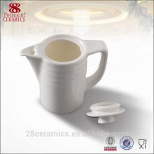 En gros articles de vaisselle de guangdong, pot de café turc en porcelaine blanche