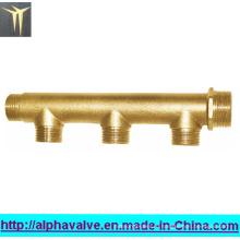 Латунный манифольд для трехходового клапана с водяным патрубком (a. 0188)