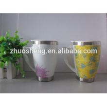 nuevos productos 2015 producto innovador impresión logo por mayor de cerámica de viaje taza con asa