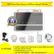 Business Home GSM Security Alarm System with 8 Wireless Cameras