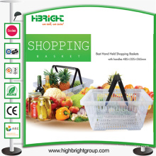 Double Handle Plastic Shopping Baskets