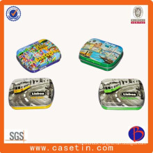 China Supplier Round Small Size Peppermint Candy Tin Box