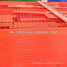 Durable and Cheap Orange Color Steel Canada Temporary Fence Panel