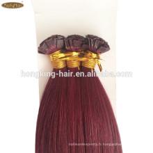 100% naturels cheveux humains de haute qualité cristaux extensions de cheveux