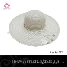 cheap Lady yarn summer hat white fashion design
