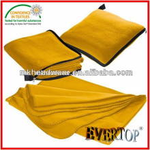 Heißer Verkauf Warmes dickes weiches 100% Polyester-Haupttextil-Kissen werfen feste Vlies-Decke mit Reißverschluss
