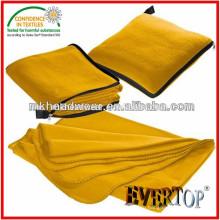 Горячие продажи теплый толстый мягкий 100% полиэстер Домашний текстиль Подушка Throw твердых флисовой одеяло с молнией