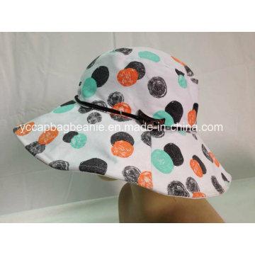 Senhoras Bucket Hat Lazer, Chapéu Balde Moda