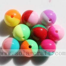 China Manufacturer for for plastic pearl beads Double Colored Candy Beads Jewelry Finding DIY Beads export to Liechtenstein Factories