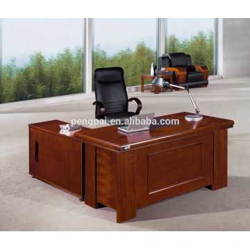 reddish brrown model new designs office table with side table