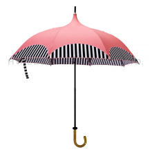 Sun Blocking Women Folding Pagoda Paraply Parasol