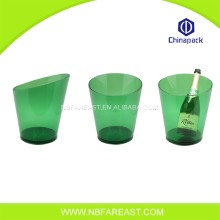 Newest fashion transparent logo ice bucket