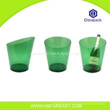 Venta al por mayor de encargo de la venta caliente pequeño cubo de hielo plástico