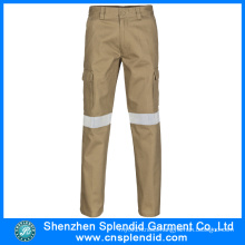 High Quality Cotton Reflective Khaki Work Trousers for Mens