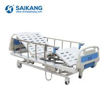 Cama motorizada controlo a distância elétrica do paciente hospitalizado do metal SK004 ajustável