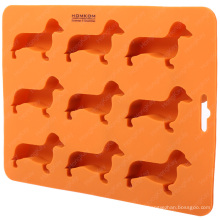 Dachshund Dog Shaped Silicone Ice Cube Tray Molds and Flexible Ice Chocolate Candy Mold Ice Maker-BPA Free