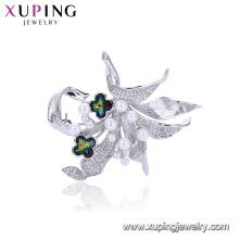 00100 Neue Ankunft Mode Brosche Pins für Frauen, zarte Perlenbrosche für Kleid Kristalle von Swarovski