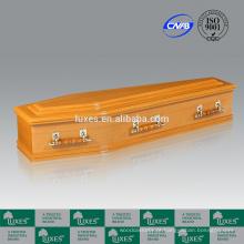 LUXES MDF caixões estilo australiano caixões colorida com forro de caixão
