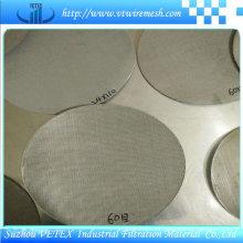 Malla de alambre cuadrada de acero inoxidable utilizada en la industria alimentaria