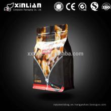 Bolsa de fondo plano con cremallera / bolsa de plástico / bolsa de papel de aluminio