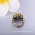 Joyería antigua anillos anillos de dedo de las mujeres con chapado en oro negro joyas