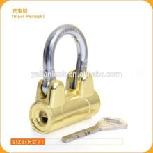 Novo Design Hot Sale China Suppliers Padlock Lingote, Titaniuim forma de asa cadeado de segurança Barato preço Lock