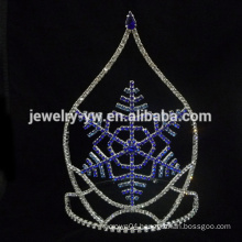 wholesale Red&blue Snow Crown and Tiara snow flake crowns and tiaras for girls