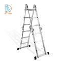 Escalera de aluminio plegable multiusos de 4x3 pasos con bisagras pequeñas EN131 SGS CE