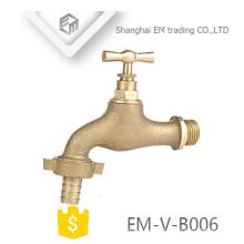 EM-V-B006 macho rosca de bronze bibcock válvula de esfera bibcock