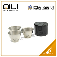 Stainless Steel Cups with Leather Bag/measurement cup