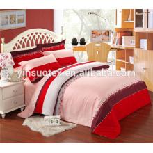 Heißer Verkauf plain gefärbte Muster Polyester Füller Bett Abdeckung für Babys gesetzt