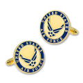 Silver and Gold Military U.S. Air Force Enamel Cufflinks