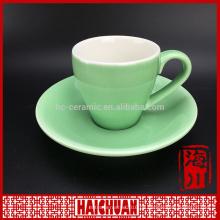 180cc Porzellan Rottee Tasse und Untertasse mit Silber Abziehbild