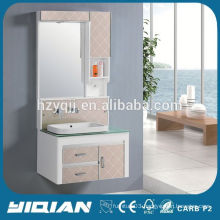 Tempered Glass Countertop Ceramic Washbasin Wall Mounted Bathroom Cabinets