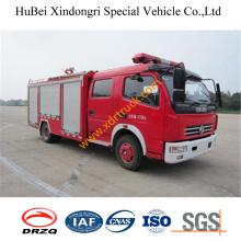 3ton Dongfeng 4 * 2 unidad de emergencia de emergencia de agua de bomberos Euro4 camión