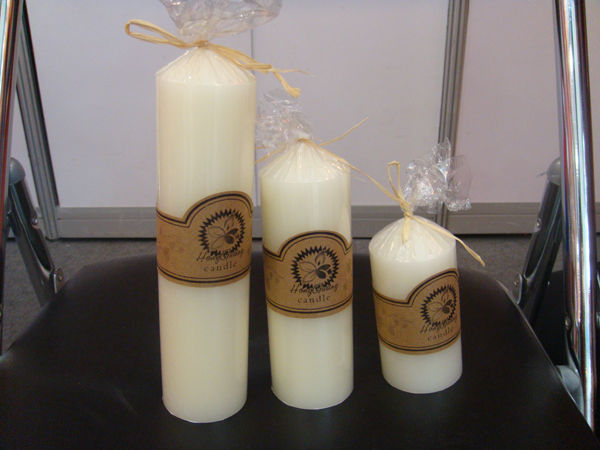 Ivory white church candle3