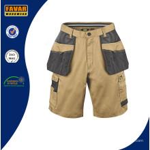 Hardwearing Sommer Multi Pocket Handwerker Shorts Khaki Schwarz