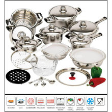 28PCS Stainless Steel Cookware Set