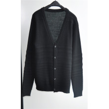 Winter V-Neck Knitted Men Cardigan Sweater with Button
