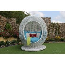 Atemberaubende Polyethylen Rattan Apfel Sonnenbank Für Outdoor-Nutzung Patio Garten Wicker Möbel
