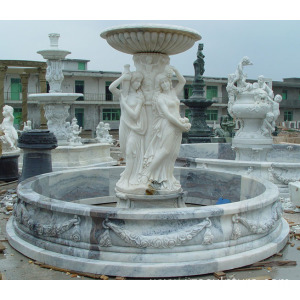 White Marble Water Fountain For Decoration
