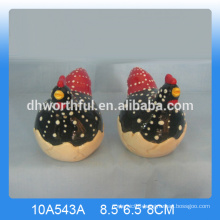 High quality ceramic rooster salt and pepper shaker