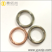 Glossy rose gold custom shinny silver ring