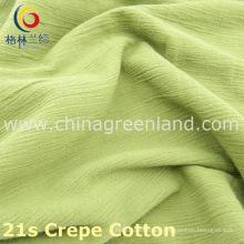 100%Cotton Crepe Thicken Fabric Imitation of Linen-Cotton for Textile (GLLML221)