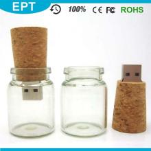 Atacado 2 GB / 4 GB / 8 GB / 16 GB De Vidro De Vidro Drift Garrafa USB Flash Drive com Caixa de Presente