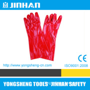 "18""Anti-Acid Red PVC Safety Gloves (A-3008E)"