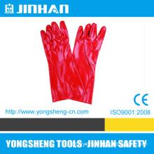 "18""Anti-Acid Red PVC Safety Gloves (A-3008E)"