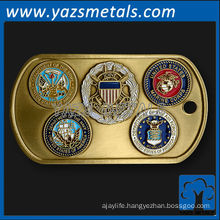 customize metal dog tags, custom high quality metal military dog tag with branch seals