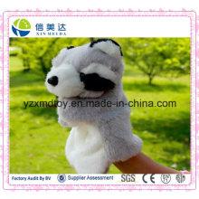 Brinquedos Engraçado Brinquedo Pelúcia Mão Raccoon Brinquedos Educativos